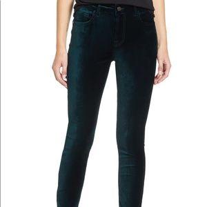 Black velvet skinny jean